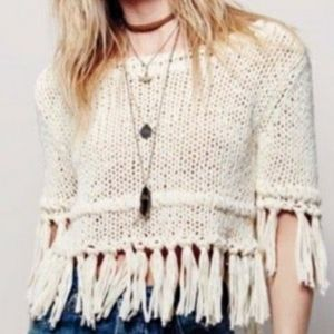 Free People Fringe sweater